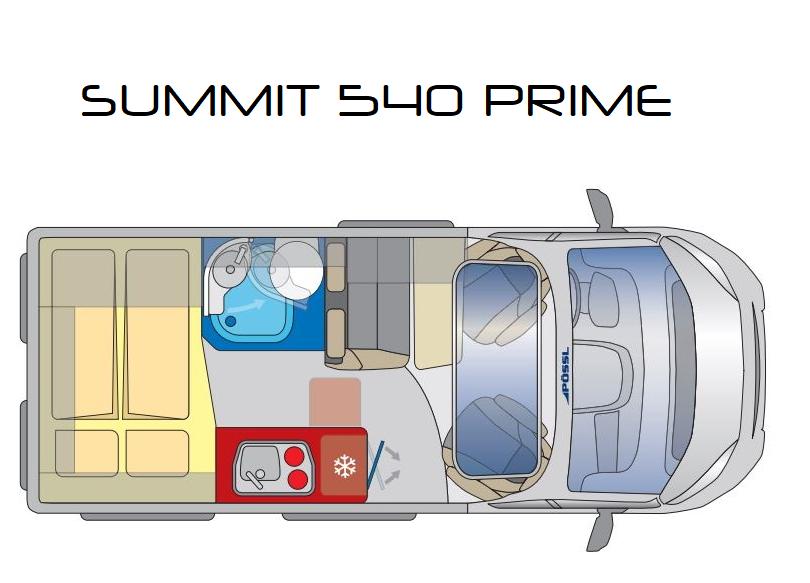 Distribución Interior PÖSSL Summit 540 Prime