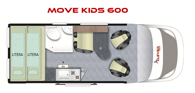 CLEVER MOVE KIDS 600